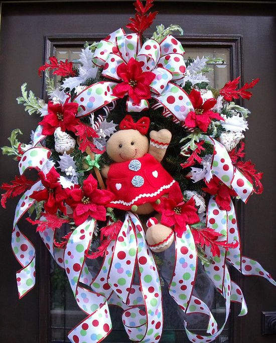 Gingerbread Man Wreath Gingerbread Christmas Wreath by LuxeWreaths, $158.00