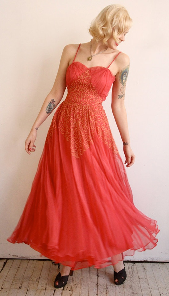 1940s Dress // vintage 40s gown // Magic Moment by dethrosevintage, $168.00