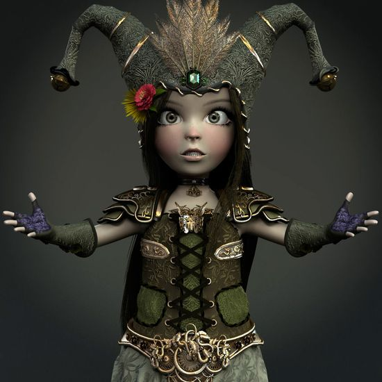 3D Art: Princess Lili - 3D, Concept art, FantasyCoolvibe – Digital Art 3D Art by Amghar Mahmoud, Morocco.