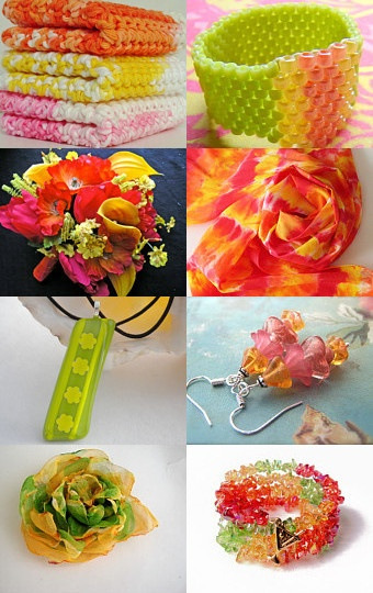 Gorgeous #onfireteam treasury filled with spring colours #handmade #accessories #jewelry #decor