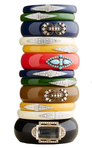 Art Deco Bakelite bangle bracelets