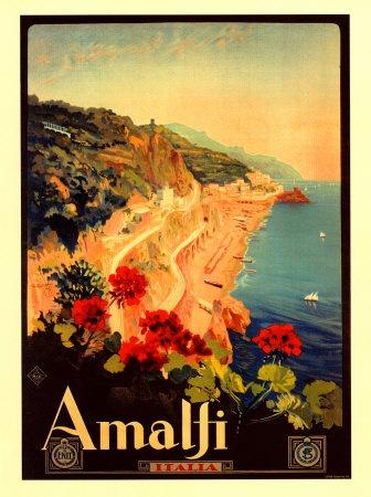 Vintage travel sign- Amalfi #Italia #vintage #travel #poster