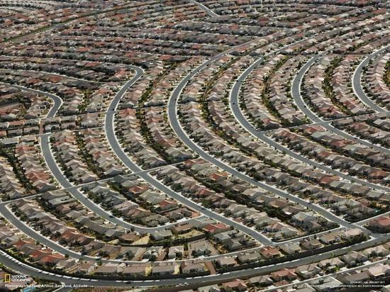 Architectural rhythm! Suburbs @ Las Vegas, Nevada by Yann Arthus Bertrand for National Geographic