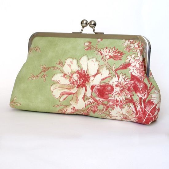 pink & green floral #Awesome Handbags