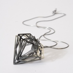 Iconic diamond structures by London based jewellery designer Myia Bonner
