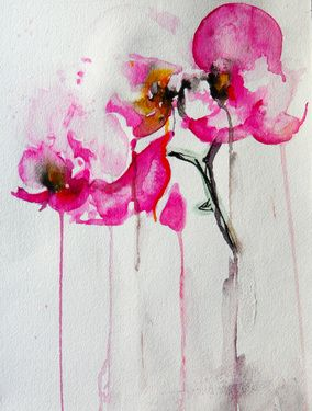 "Saatchi Online Artist Karin Johannesson; Painting, ""Orchid study IX"" #art"
