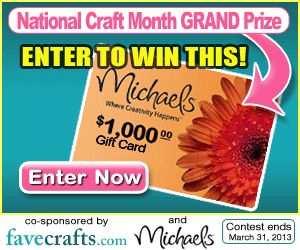 $1000 Michaels Gift Card #Giveaway - enter on FaveCrafts!