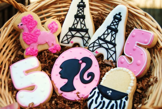 French decorated sugar cookies