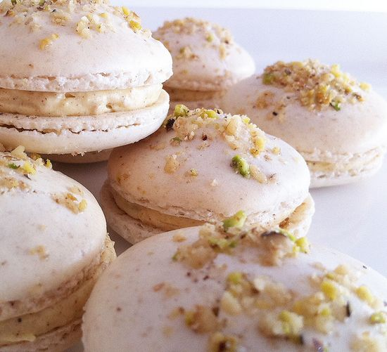 Fantastic dessert mashup! Baklava Macarons.