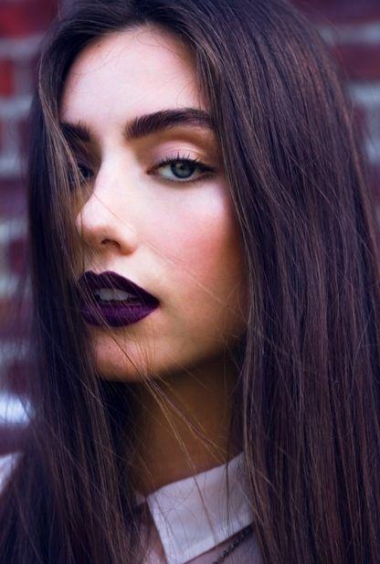 violet lipstick