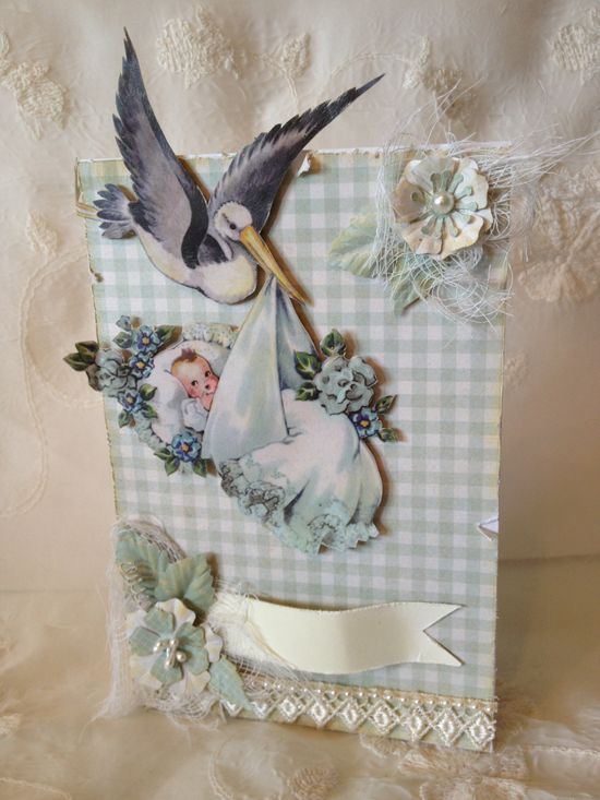 Kaisercraft bundle of joy baby boy card