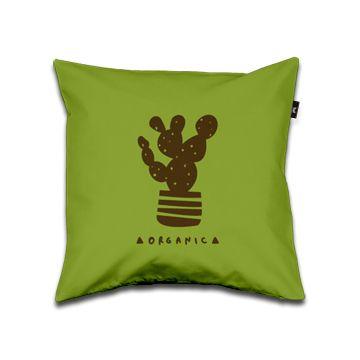 Organic Pillow 40x40 green and brown dettagli home design