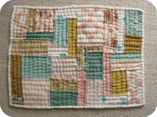 love the colours + hand quilting