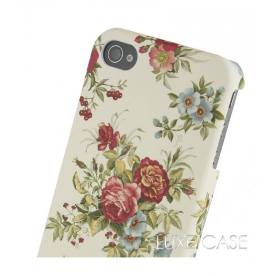 Dreams of Floral iPhone 4 Case in Eggshell