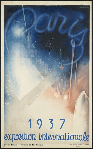 Paris. 1937 exposition internationale by Boston Public Library, via Flickr