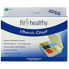 Fit & Fresh VitaMinder Vitamin Chest.Solutions for better health