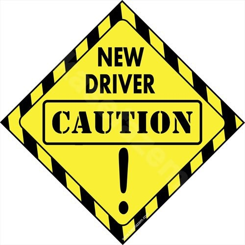 CAUTION NEW DRIVER on board Car Sticker  window Decal by kasefazem, $4.90