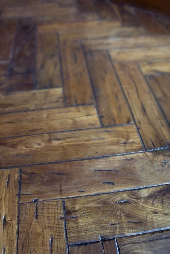 herringbone wood floor. ?