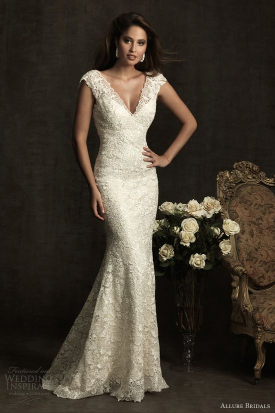allure bridals 2012 lace wedding dress