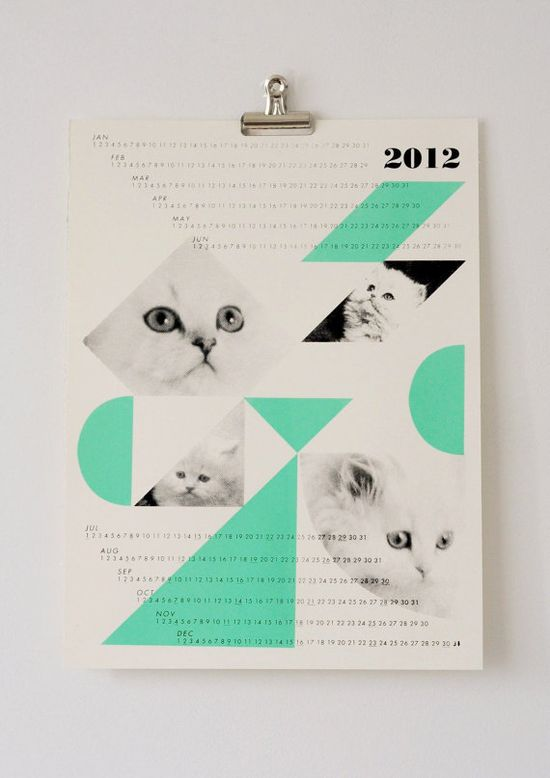 dreamcats 2012 calendar, mint @Kristina Kilmer Hyatt! just for you