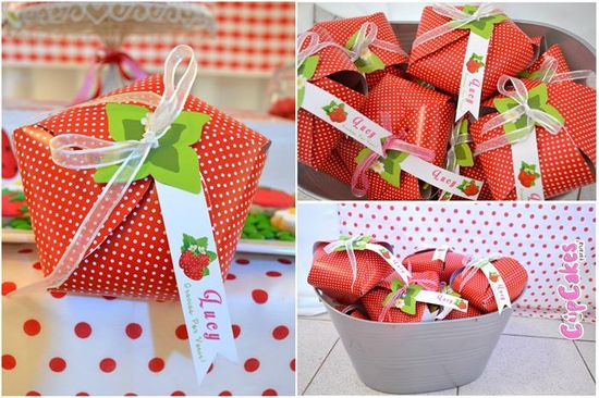 Strawberry Themed 7th Birthday Party with Lots of Cute Ideas via Kara's Party Ideas