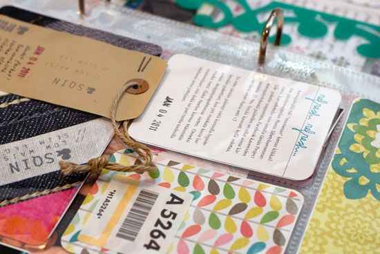 Date Stamp Tags #scrapbook #diy #project #life