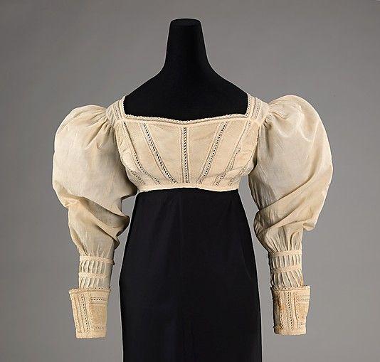 Bodice  Date: ca. 1825 Culture: American Medium: cotton
