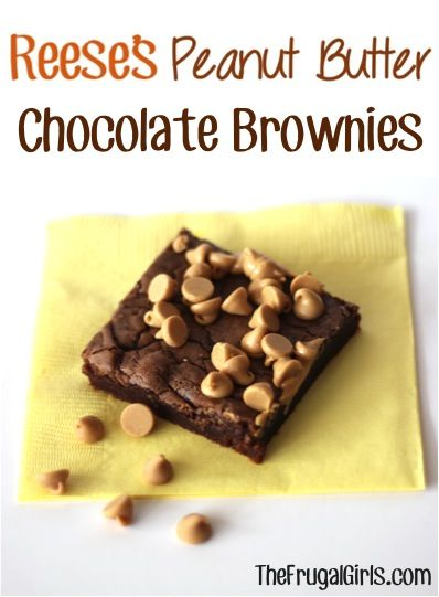 Reese's Peanut Butter Chocolate Brownies Recipe! ~ from TheFrugalGirls.com ~ Craving a yummy brownie in a jiffy?  You'll love this quick and simple treat! #recipes