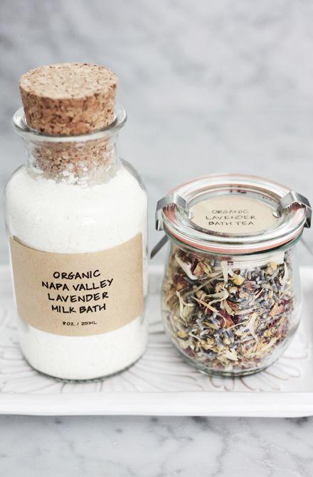 DIY organic lavender milk bath