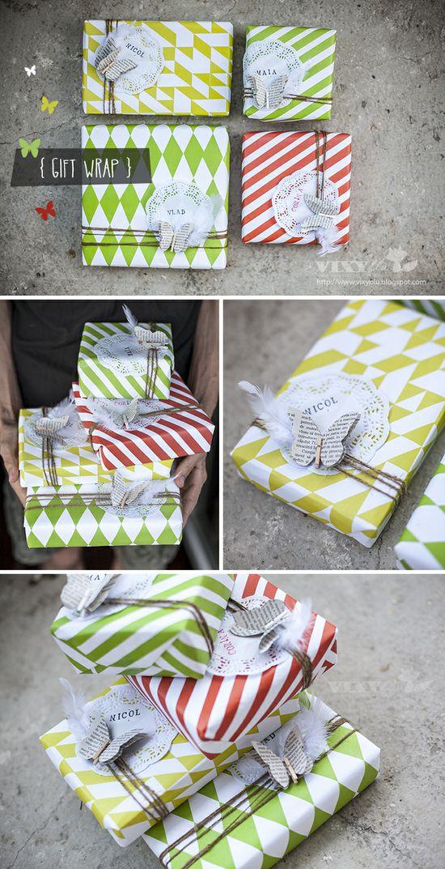 Vixyblu - handmade creative boutique: DIY: Gift Wrap/ Ambalaj cadou