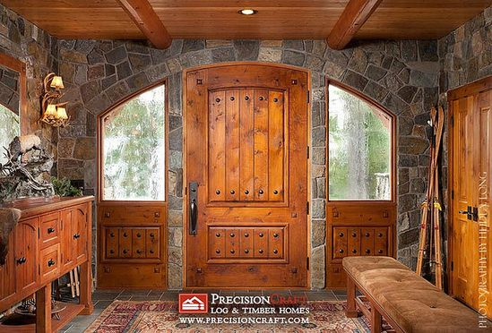 Log Home Entry Photo