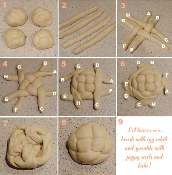 How To Braid A Round Challah For Rosh HaShana--   ok so I'm not jewish, but I LOVE this bread!!!