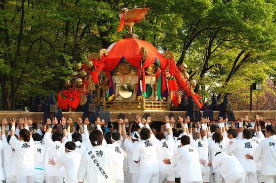 Located : Inari-Matsuri Festival. Fushimi-Inari Otabisho shrine, Rakunan Kyoto.