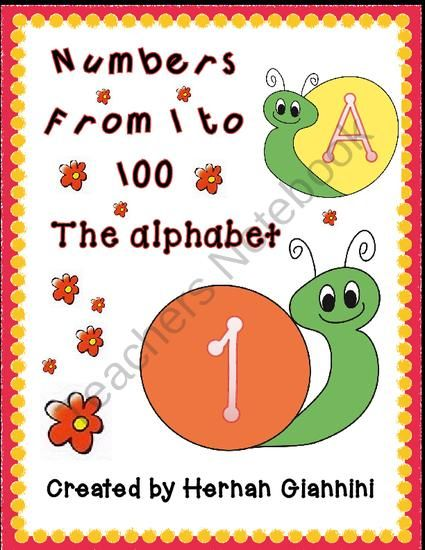 Numbers 1-100 and Alphabet Letters Flashcards from Hugs in! on TeachersNotebook.com (29 pages)  - this 29 pages consist on 100 numbers cards, 27 spanish/English alphabet lowercase and 27 uppercase! you can have a general use of the cards for many tasks to work with numbers or letters!