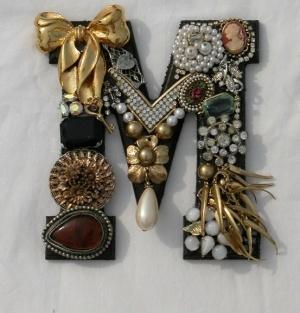 vintage jewelry monogram.