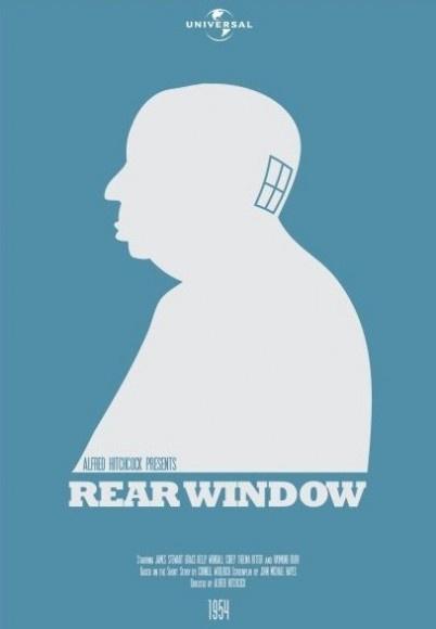 Rear Window minimalist movie poster