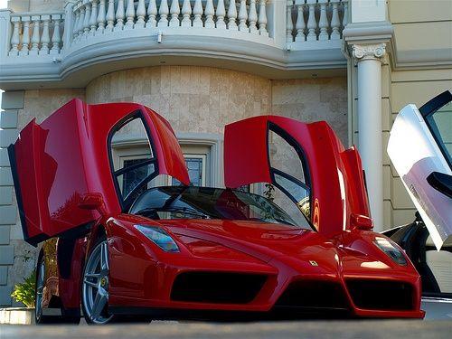 ? Beautiful Red Enzo Ferrari #luxury sports cars #ferrari vs lamborghini #customized cars #celebritys sport cars