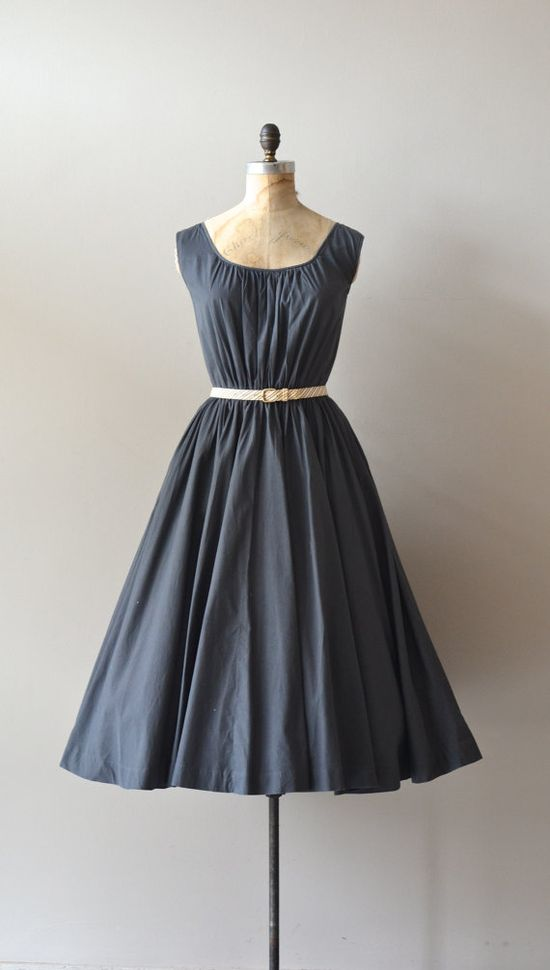 cotton 1950s  #dress #fashion #1950s #partydress #vintage #frock #retro #sundress #feminine