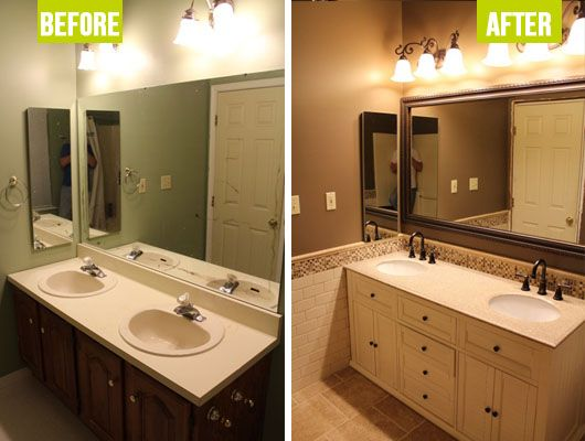 Before & After: Mocha Master Bath