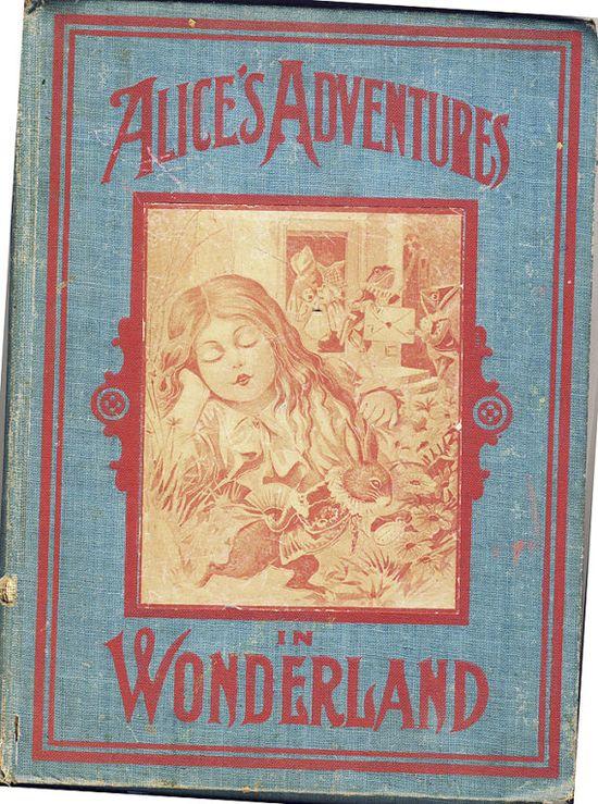 Rare 1903 Antique Alice In Wonderland Book