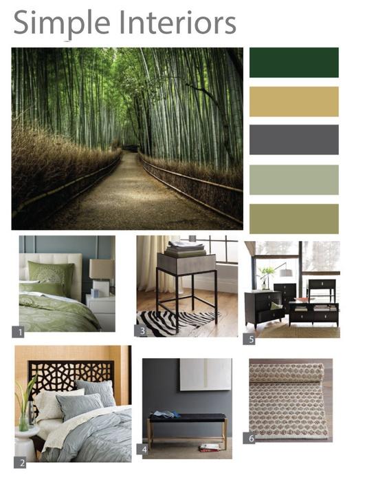 Partial Room Interior Design Board with Floor Plan. CHF150.00, via Etsy.