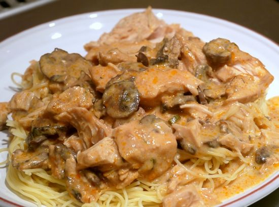Super Saucy Chicken over Angel Hair Pasta...all but the pasta is cooked in the slow cooker.