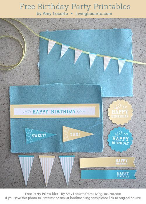 Free Birthday Party Printable Collection by LivingLocurto.com #free #party