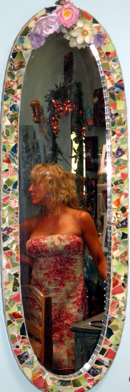 capodimonte mosaic mirror