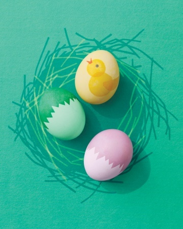 """""""Cracked"""" Eggshells and Chick Designs"""
