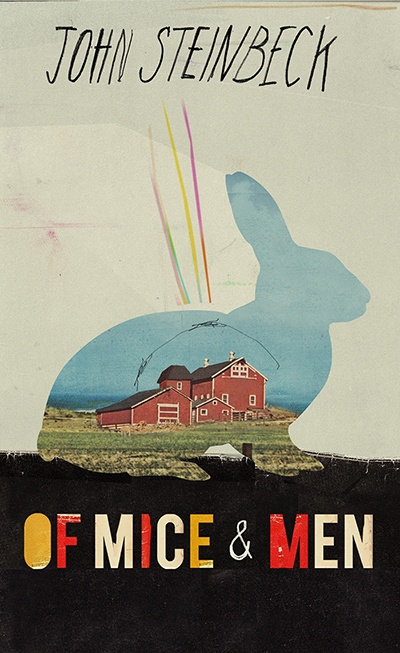 Erik This is another effective book cover whereby we have the silhouette of the rabbit and the barn on the inside alludes to the idea of how this is important and how it ties in with the rest of the book. The colour choice allows for the eye to look around the whole page and the authors name is positioned not as the central theme as not to draw the eye away from the illustration