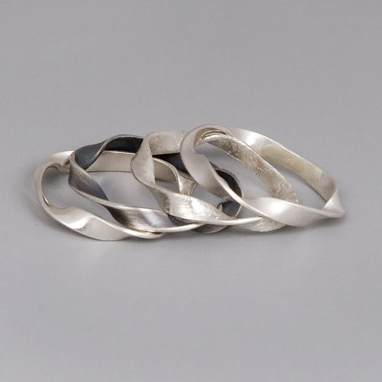 Silver Stacking Rings  Handmade Sterling Silver by toolisjewelry, $75.00