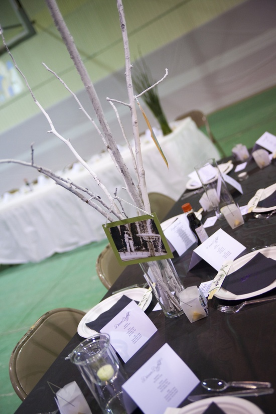 Collecting *the perfect* sticks and branches for reception decorations