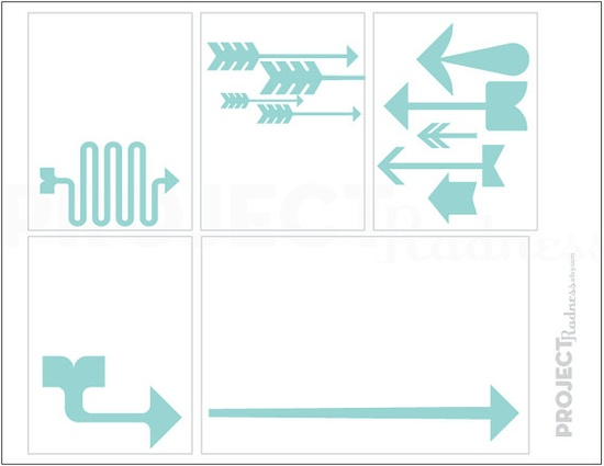 Adorable Aqua Arrows project life modern by projectradness on Etsy, $2.00