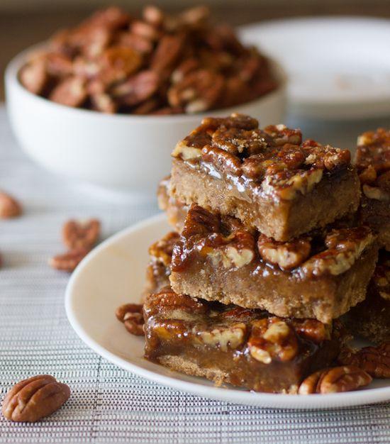 Salted Pecan Pie Bars from pinchofyum.com